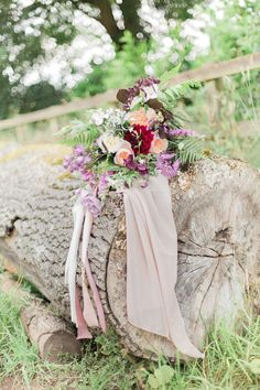 Boho Luxe Bridal Bouquet | Homegrown Flowers | Lancaster & Cornish ribbons | Dahlias | David Austin Roses.
