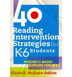 This book provides a well-rounded collection of research-based reading intervention strategies that can be used by classroom teachers, interventionists, Title I, special educators, and ELL teachers seeking to support struggling readers in their classrooms and schools. It also provides teacher-friendly sample lesson plans and miniroutines that the classroom teacher can readily understand and adapt....