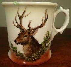 Antique Deer Hunting Shaving Mug | eBay
