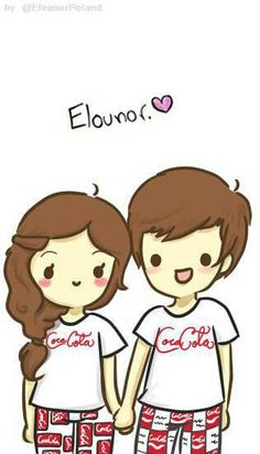 Elounor This has to be one of the cutest drawings ever :) Smith Smith Smith calder and Gray Gray Bertasson Tomlinson I SHIP THIS SO HARD One Direction Girlfriends, The Girlfriends, I Love One Direction, Zayn Malik, Niall Horan, Louis And Eleanor, 3 Gif, Eleanor Calder, Louis Williams