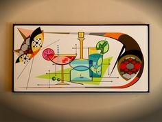 Original Large Canvas Mid Century Modern Cat by COLBYandFRIENDS Mid Century Modern Art, Mid Century Art, Mid Century Decor, Modern Art Paintings, Original Paintings, Charlie Harper, Mid-century Modern, Vintage Modern, Large Canvas