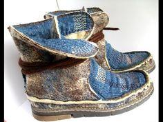 Валяние обуви. Где брать идеи для войлочной обуви? - YouTube