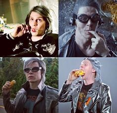 AHHHH, I LOVE HIM.  Evan Peters as Quicksilver is the best thing ever!
