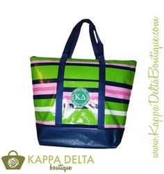 KD Boutique Striped Toss Bag and Patch! Great for any busy on the run Kappa Delta