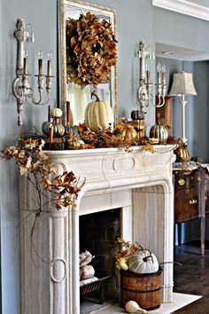 Fireplace Mantel Decor Ideas Home . 24 Awesome Fireplace Mantel Decor Ideas Home . Decorating Ideas for Fireplace Mantels and Walls Decoration Christmas, Fall Mantel Decorations, Mantel Ideas, Thanksgiving Decorations, Seasonal Decor, House Decorations, Autumn Decorating, Decorating On A Budget, Mantle Decorating