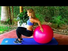Swiss Ball Exercises - YouTube