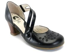 Check out the Fluevog Viardot: closed toe, hard to find, great if you need to wear with pantyhose or your toenails need a touch up ;)