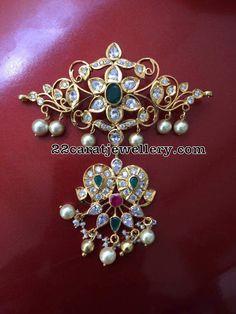 92.5 Silver Pachi Pendant Sets - Jewellery Designs