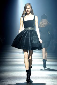 Karlie Kloss walks the runway during the Lanvin Ready-To-Wear Fall/Winter 2012 show as part of Paris Fashion Week at Halle Freyssinet on March 2, 2012 in Paris, France.