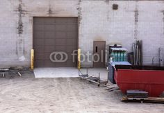 Industrial Warehouse Loading Door - Buy this stock photo and explore similar images at Adobe Stock Industrial Door, Warehouse, Doors, Stock Photos, Google Search, Magazine, Barn, Storage, Container Homes