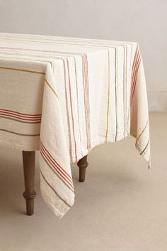 Anthropologie Striped Paonia Tablecloth