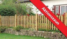 Unser Angebot der Gartenzaun Gut und Günstig ist aus der Kiefer und Fichte hergestellt. Der rustikale Zaun ist sehr langlebig und hat ein sehr gutes Preisleistungsverhältnis. Die fünf Zaunelemente haben die Maße von 180 x 60 cm bis 180 x 80 auf 65 cm. Die Gartenzaunserie bietet auch die Möglichkeit eine Pforte (100 x 80 cm) oder ein Doppeltor (300 x 80 cm) individuell zu verbauen. Diese und weitere Holzzäune finden Sie unter http://www.meingartenversand.de/gartenzaun.html