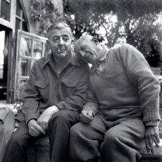 Jacques Prévert and Pablo Picasso, 1951 -by Boris Lipnitzki (Roger Violet)