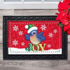 Bluebird Christmas Doormat