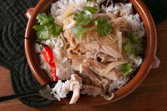 Chicken and Ginger Clay Pot