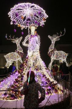 Of all the home businesses out there, Christmas Light Installation businesses may be one of the best kept secrets around. Most people think of hanging Christmas lights as a low paying, low potential, grunt work job, and therefore they Christmas Light Show, Hanging Christmas Lights, Christmas Light Displays, Xmas Lights, Purple Christmas, Holiday Lights, Christmas Love, Outdoor Christmas, Beautiful Christmas
