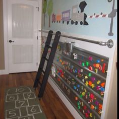 Awesome!  Ladder for pulling to stand along an activity wall!  Gonna do this inside and out!