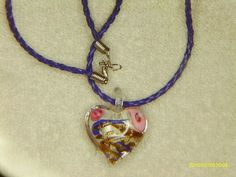 Multi Color Solid Glass Heart Necklace $10.89