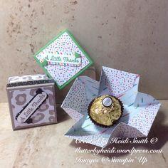 Ferrero Friday Lidded explosion box using Stampin Up Uk supplies