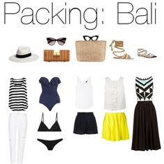 """""""Packing: Bali"""" by iam-mrsp on Polyvore"""