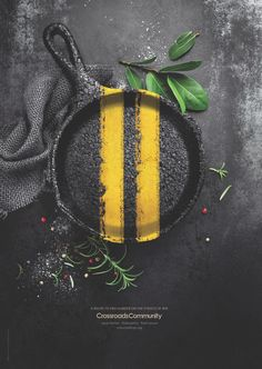 Crossroads Community Print Ad - Recipe to End Hunger - Pan