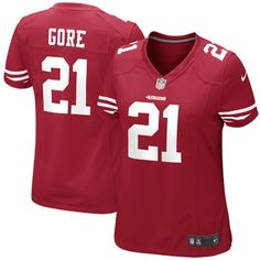 Frank Gore San Francisco 49ers Nike Women's Team Color Game Jersey - Scarlet