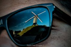 """""""A Bruges photo gallery by your guide Andy McSweeney - By the Windmills"""" #brugge #bruges #belgium #windmills #glasses #reflection #people #creative #photography #phototourbrugge #andymcsweeney"""
