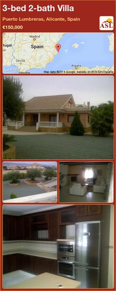 3-bed 2-bath Villa in Puerto Lumbreras, Alicante, Spain ►€150,000 #PropertyForSaleInSpain