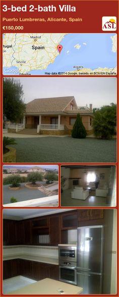 3-bed 2-bath Villa in Puerto Lumbreras, Alicante, Spain ►€150,000 #PropertyForSaleInSpain