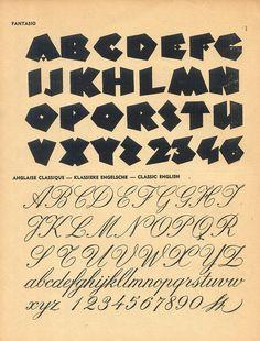 Vintage type, 100 Alphabets Publicitaires, 1946
