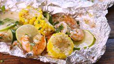 Cilantro-Lime Shrimp Foil Packs