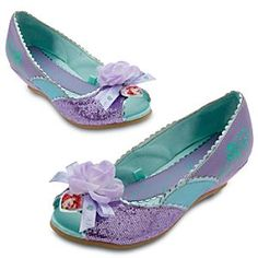 Disney Ariel Shoes for Girls | Disney StoreAriel Shoes for Girls - Up where they walk, up where they run, she'll play all day in the sun wearing our sparkling Ariel shoes with floral accents. With each step your costumed princess will feel just like our Little Mermaid.