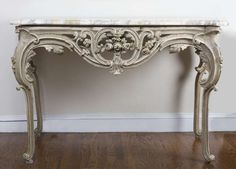Louis XV Style Painted Console  | From a unique collection of antique and modern console tables at https://www.1stdibs.com/furniture/tables/console-tables/