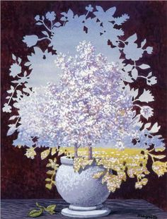 The flash - Rene Magritte [1959] Brussels, Surrealism, Mature Period, still life