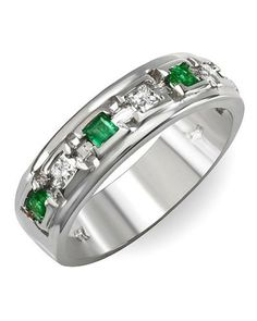 Emerald and diamond ring by FORELI.