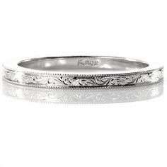 Scroll Engraved Band - Knox Jewelers - Minneapolis Minnesota - Hand Engraved Wedding Bands - Large Image