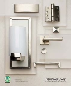 Modern stainless hardware available for your home.