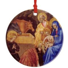 Nativity Ceramic Ornament from the Masterpiece Ornaments collection, $9.95. #CatholicCompany
