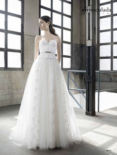 Inmaculada Garcia 2016 Wedding Dresses - World of Bridal Pink Wedding Dresses, Wedding Gowns, Wedding Attire, Wedding Events, Trends 2016, The Dress, Couture, Wedding Styles, One Shoulder Wedding Dress