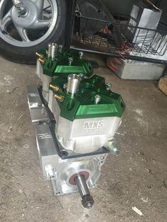 Twin MXS GP 90cc sur carters CNC
