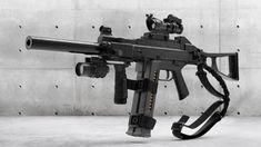 UMP 45 _hp by Maksym Malinovskyihp render Hotel Door Locks, Long Rifle, Submachine Gun, Military Guns, Cool Guns, Fantasy Weapons, Weapons Guns, Modern Warfare, Airsoft