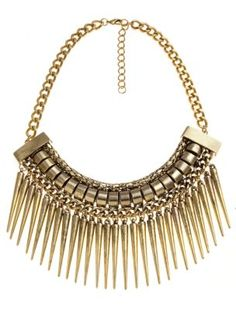 The Styling Up stylists recommend: Limited Edition: Limited Chunky Drop Spike Tribal Necklace