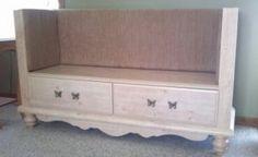 Repurpose old dresser into a bench seat! @ Design Dazzle