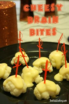 Cheese Brain Bites (Steamed Cauliflower with Cheese Sauce)