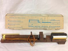 Vintage Texas Inertia Nutcracker With Original Box