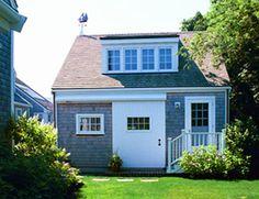 Shed dormer for over garage Garage Shed, Garage House, 3 Season Porch, Shed Dormer, Dormer Windows, Nantucket, House Floor Plans, Tiny Homes, Sheds