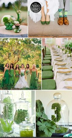 green fall wedding color ideas ....yeah this is for ME too lol