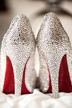 Christian Louboutin wedding shoes these are to die for~!