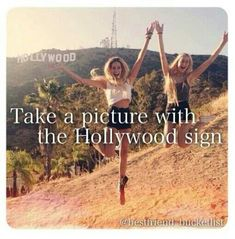 Take a picture with Hollywood sign