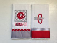 Baby Boy Burp Cloths - Set of 2 - You Choose Colors on Etsy, $18.00